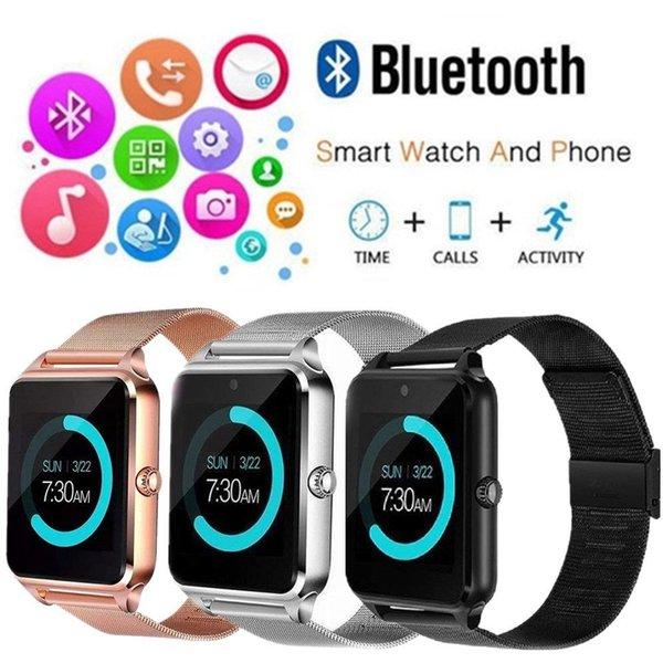 Z60 Bluetooth Smart Watch Slot und NFC Health Watchs für Android-Handy Smartphone Armband Smartwatch SIM-Telefon 3 Farben AAA1343