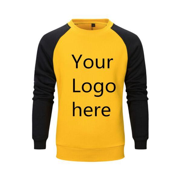 US-Größe Sweatshirts Männer Warm Pullover Streetwear Kundenspezifische LOGO Gedruckt Design DIY Striped Runde Kragen Fleece Hoodies Männer