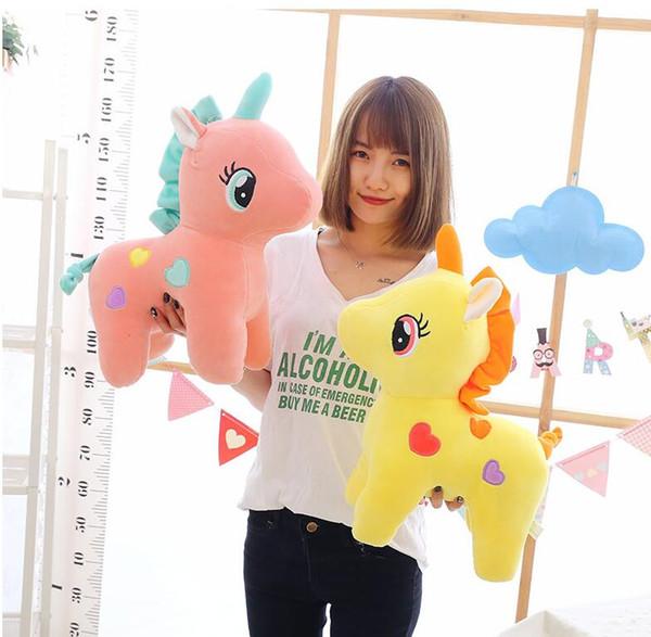 25*30cm Baby Plush Toy Unicorn Kids Cartoon Stuffed Animals Home Decor Children Birthday Best Gifts Plush Funny Toys KKA5166