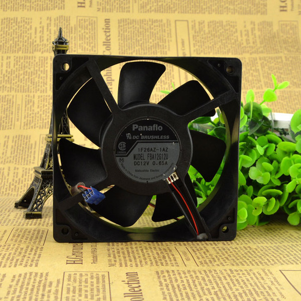 Free Delivery. 12 cm 12038 DC12V 0.65 A large air cooling fan FBA12G12U