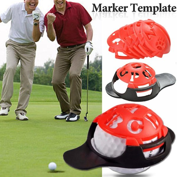 6 In 1 Golf Ball Line Liner Marker Template Drawing Alignment Marks Sign Tool Red