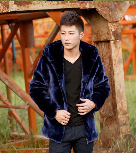 Cappotti di pelliccia di Faux degli uomini I vestiti pesanti di colore rosso di inverno dei giacinti grigi rossi di inverno dell'uomo liberano il trasporto