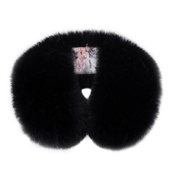 Lady Blinger new winter faux fur collar multicolors fake fur scarf super soft unreal shawl pom pom warm scarf