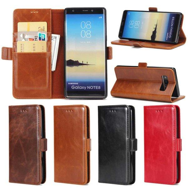 Luxury Genuine Leather Case For Samsung Galaxy Note 8 Note 5 Note 4 Wallet With Card Slot Flip Holster