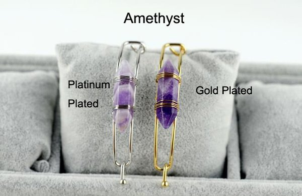 Amethyst With Gold Plated