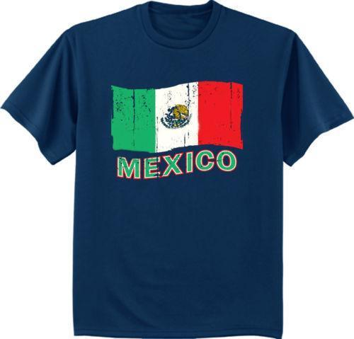 Big and tall t-shirt Mexico decal Mexican flag design tee shirt for men