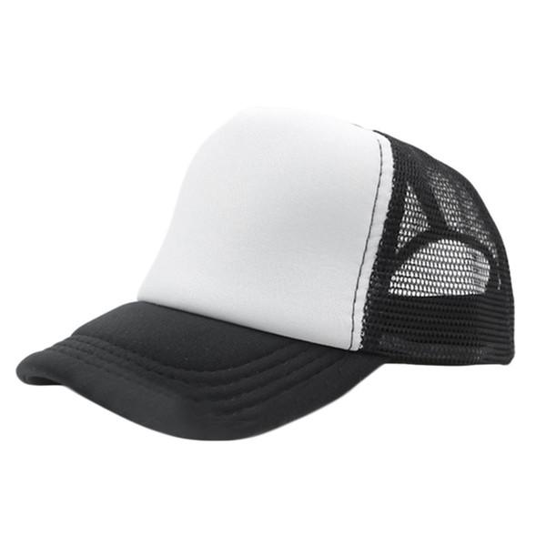 ebebbba0871 13 Color Summer Fashion Red Black Plain Trucker Mesh Hat Snapback Blank  Baseball Cap Adjustable Size