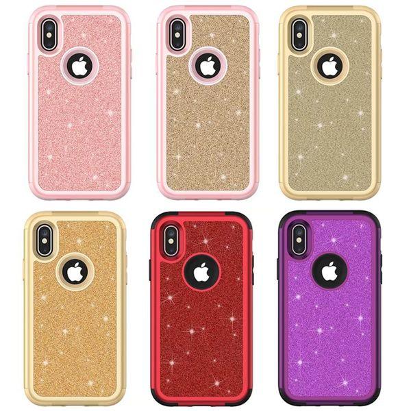Diamond Rhinestone Funda para teléfono celular Crystal Sparkle Funda de silicona para iPhone X 6 7 8 Plus Xs Max Xr