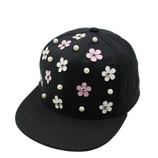 Fashion Snapback Hat Punk Hedgehog Rock Hip Hop Flower Rivet Stud Spike Spiky Hat Cap Baseball Cap for 3-8Yrs Kids