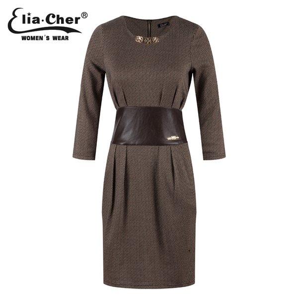 Abiti da donna Abiti invernali Eliacher Marca Plus Size Maniche lunghe Cina Abiti da sera abiti a tunica