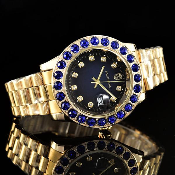 top popular Men Women Stainless Steel Bands Quartz Watch Wristwatch Watch Men Clock Fashion Watches 2019