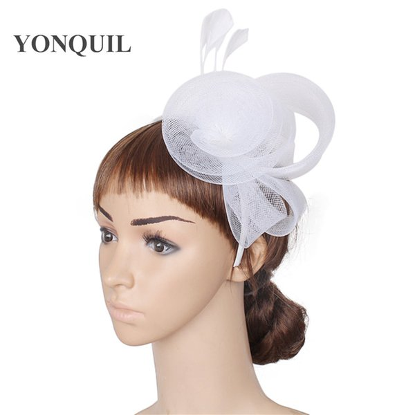 2018 New Multiple colors Elegant fascinators wedding hair accessories bridal hats party headwear white ladies kentucky cocktail hats SYF39