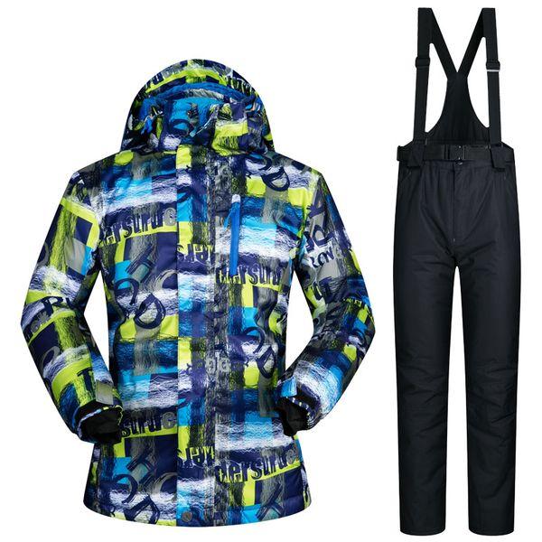 2018 New Arrival Ski Suit Men Waterproof Thicken Snowboard Jacket Ski Jumpsuit Outdoor Snow Mountain Skiing Suits Winter Warm