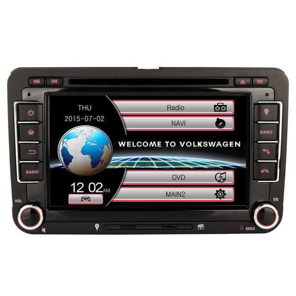 Wholesale! 2 Din 7 Inch Car DVD Player For VW/Volkswagen/Passat/POLO/GOLF/Skoda/Seat/Leon With GPS Navigation FM AM RDS Maps