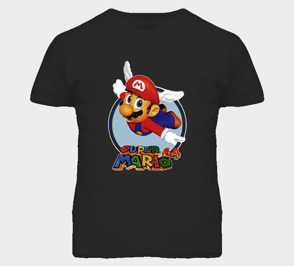 Super Mario N64 Video Game T Shirt Short Sleeve Fashion Summer Printing Casual T-Shirt Men Short Sleeve T shirt Personality
