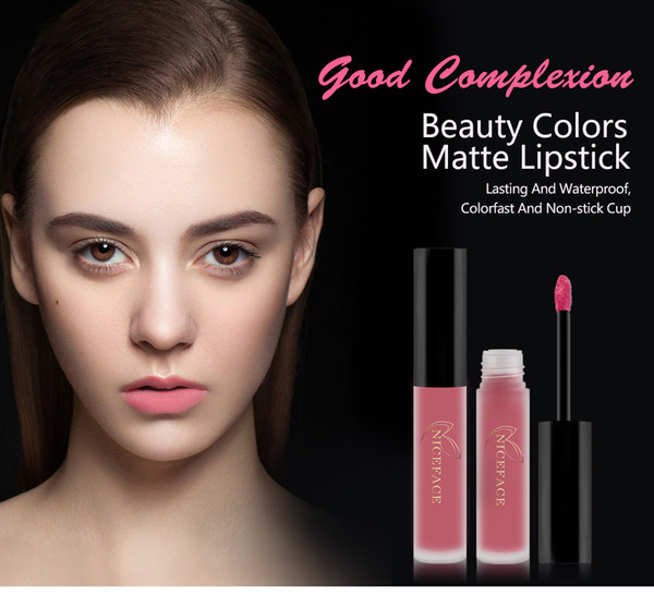 NICEFACE Brand 3 Colors/Set Liquid Lipsticks Make Up Pigments Sexy Red Purple Velvet Matte Lip Gloss Makeup Kit L17011 ABCD