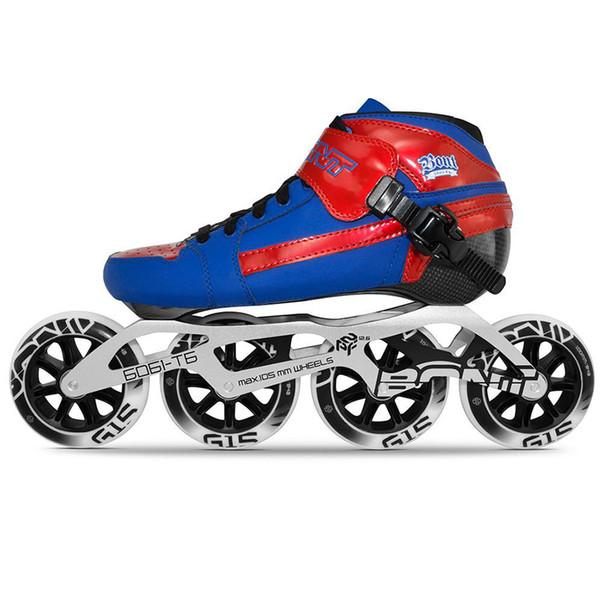 100% Original Bont Pursuit 2PT Speed Inline Skates Heatmoldable Carbon Fiber Boot 195mm 6061 Frame 4*90/100/110mm Wheels Patines