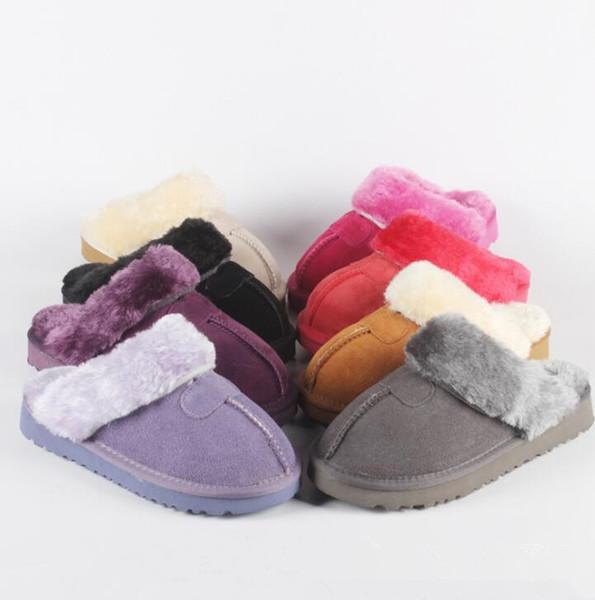 41bde22531 Casa de Inverno Chinelo de Pele Casa Interior Anti-slip Sapatos Macios Das  Mulheres Dos
