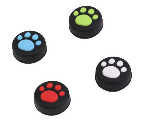 venta caliente Cat Claw silicona Footmark Thumbsticks Pulsadores Cubierta para Nintend Switch NS Joy Con Stick Caps Protector de piel para Joy-Con