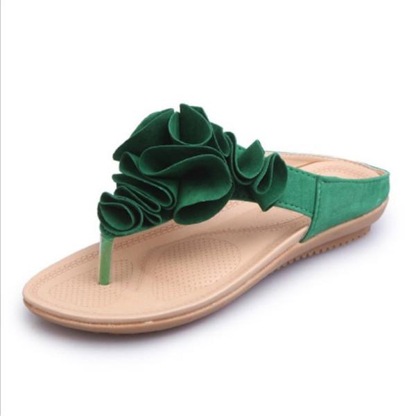 Kadın Tatlı Çiçekler Flip-Flop Terlik Yaz Dışında Sandalet Bayanlar Düz Plaj Yumuşak Nefes Moda kaymaz Terlik