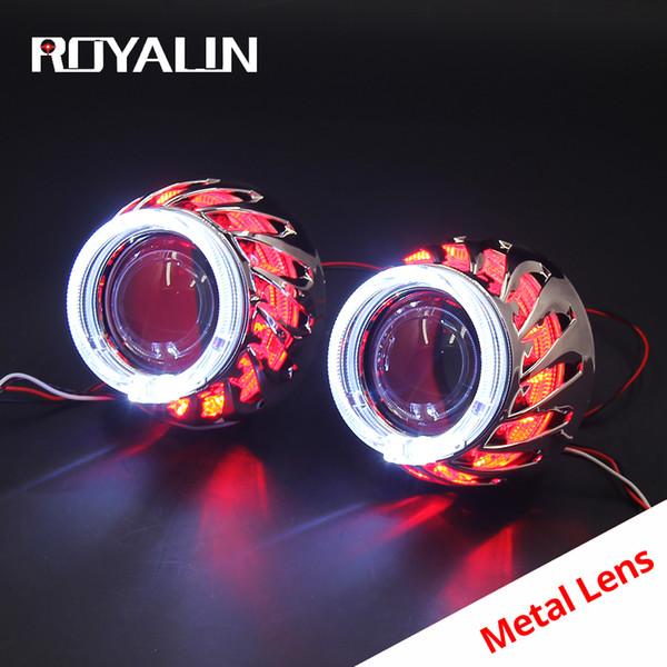 "5-3//4/"" White LED COB SMD Halo Angel Eye 6000K 6K HID Light Bulbs Headlights Pair"