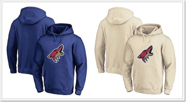 New Arizona Coyotes Team Mens Vintage Ice Hockey Shirts Sweatershirts Uniforms Hoodies Stitched Embroidery Blank Sports Jerseys For Sale
