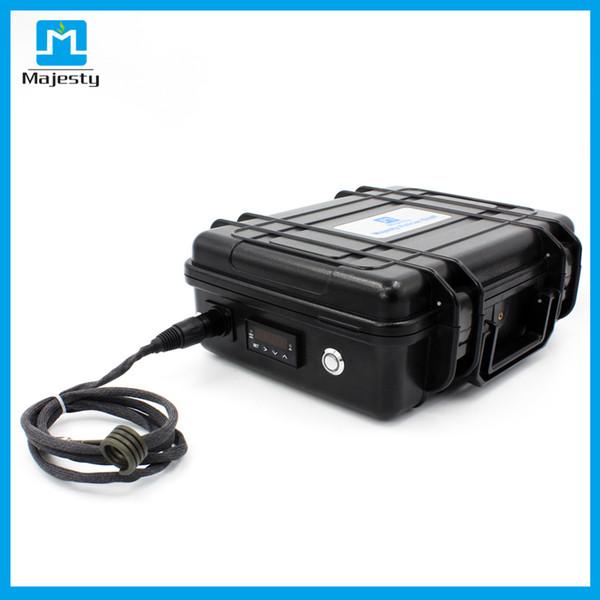 2018 New arrival EUA e mercado da UE Majesty enail vape Controlador de Temperatura caixa com enail careca cap e ti unha DHL frete grátis