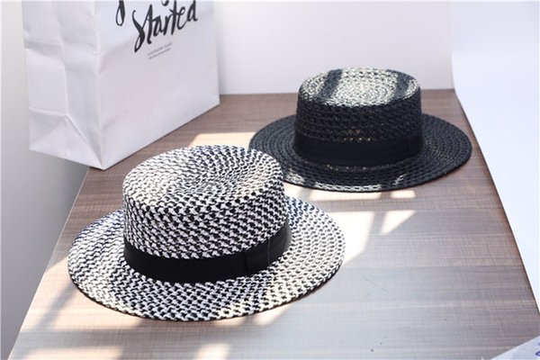 Lady Vintage Flat Hat Wide Brim Hats Bow Ties Lady Wide Brim Hats for Outdoor Journy Large Floppy Hats