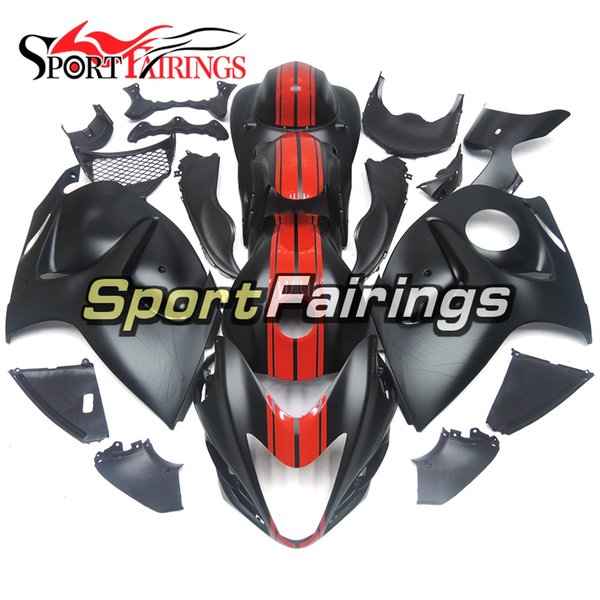 Complete Matte Black Lines Injection fairings for Suzuki GSXR1300 GSX-R1300 08 09 10 11 12 2013 2014 2015 2016 ABS Plastic Cowlings