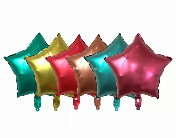 Nouveau 18 pouces étoiles métalliques Helium Feuille Ballons bébé Fournitures De Fête D'anniversaire de mariage Décor Air Ballon