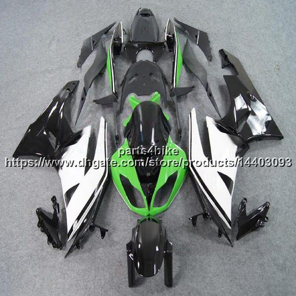 23colors + 5Gifts Molde de inyección verde blanco negro Motocicleta Carenado Para Kawasaki NINJIA ZX6R 2009 2010 2011 2012 ZX 6R ABS Body Body