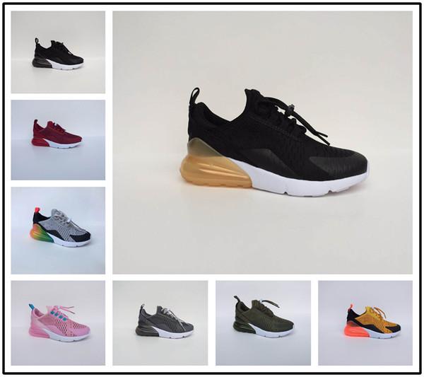 Compre Nike Air Max Airmax 270 Infantil 270 Niños Zapatos Para Correr Negro Blanco Dusty Cactus 27c Niño Al Aire Libre Niño Atlético Niña Zapatos De