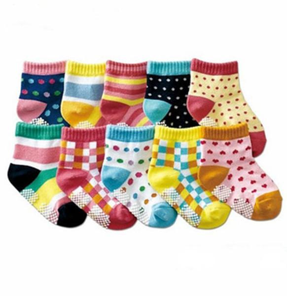 Newborn Kid Socks 20pc=10pairs Baby Socks Anti Slip Character Cotton Socks Novelty Shoe Gifts For Baby Boy And Girl Slipper