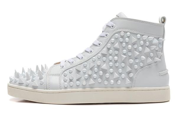 Yeni varış erkek ayakkabı Düz Spike Sneakers Renkli Çiviler Erkek kadın Moda çizmeler Ücretsiz kargo Boyutu: 36-46