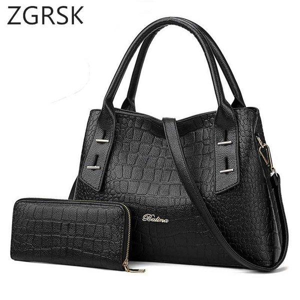 Women Purse And Handbags Set Luxury Handbags Women Designer High Quality Pu Leather Shoulder Ladies Hand Bags Famous Brand