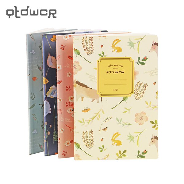 2PCS A5 Cute Kawaii Printed Notebook Animal Journal Diary Planner Notepad School Office Stationery