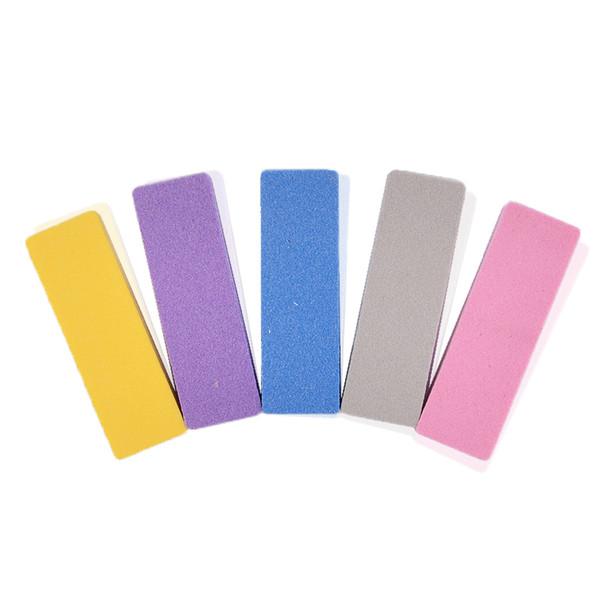 10pcs Mixed Color Mini Nail File Buffer Block Sponge Nail Art Double Sided Sanding Polishing Grinding Files 100 180 Grit