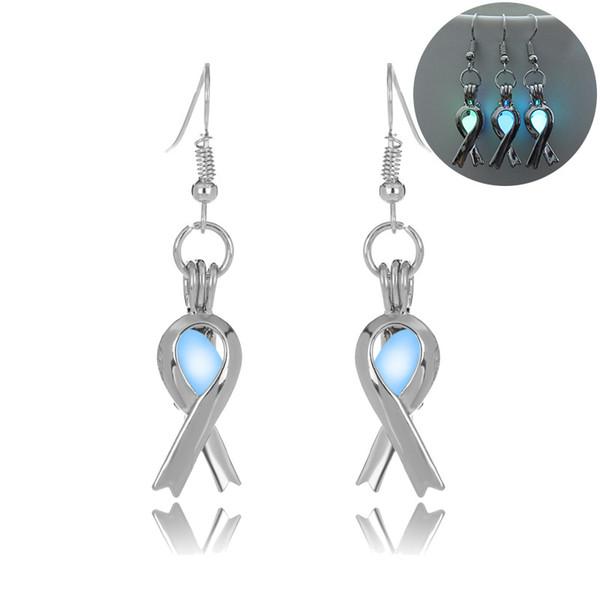 luminous bead scarf earring hollow locket scarf stud Dangle & Chandelier Halloween lucky glow in the dark earrings for women drop ship