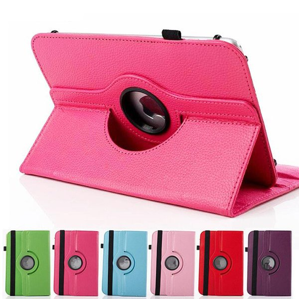 Universal 360 Rotating Adjustable Flip PU Leather Stand Case Cover For 7 8 9 10 10.1 10.2 inch Tablet PC MID Samsung Tab iPad Huawei