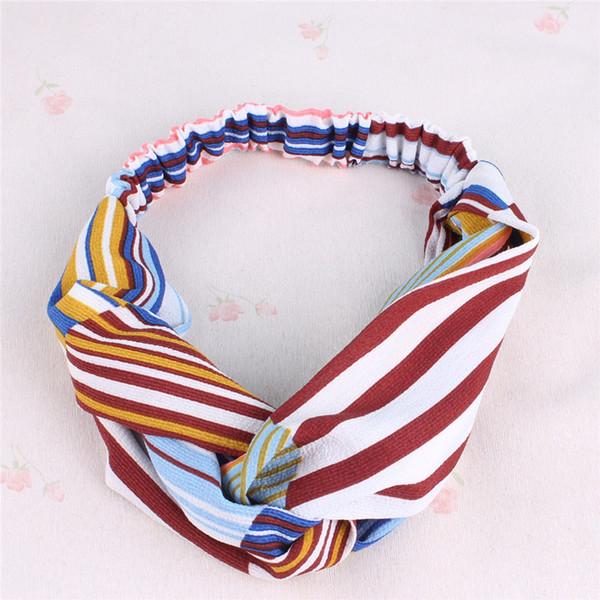 Fascia per lo yoga Sport Moda Stripe Cross Girl Fascia per capelli fatti a mano Accessori per donna all'ingrosso Elastico nuovo copricapo