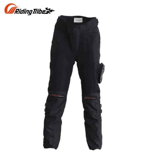 Riding Tribe Motorcycle Pants Men Black Motorbike Protective Summer Motorbike Riding Pants Breathable Trousers With Pocket HP-02