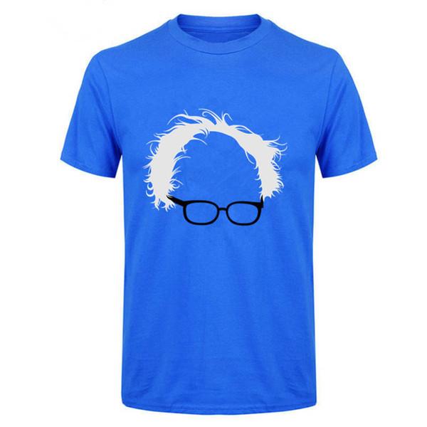Best T Shirt Designs Short Sleeve Summer Crew Neck Bernie Sanders Hair Glasses Tee Shirt For Men