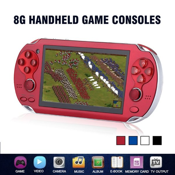 Game Console 4.3 Inch 8GB Handheld Portable Video Game Player Build in 2000 Games Support For PSP Game Camera Video E-book