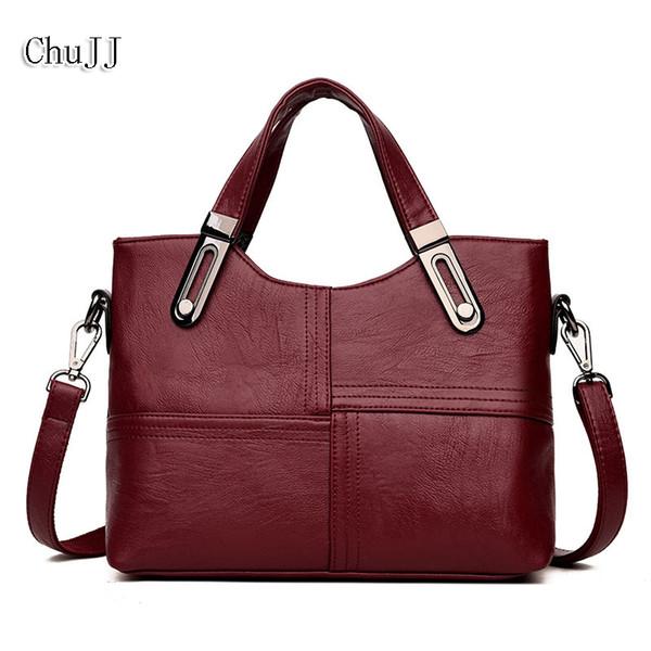 Chu JJ moda donna borse in vera pelle stile OL tote bag signore borse a tracolla patchwork donne borse a tracolla all'ingrosso
