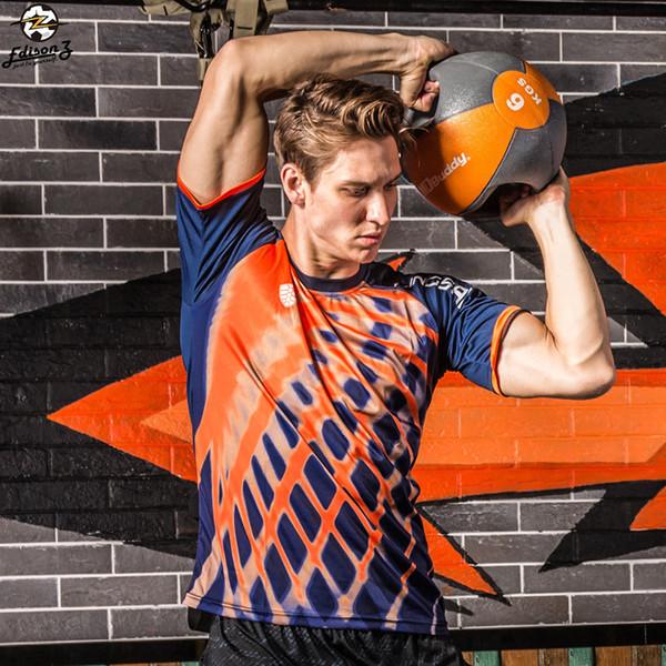 Summer sport football shirts men Run Brand running gym or Neck Slim Fit short sleeve t-shirt t-shirt Dry