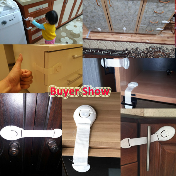 top popular 10pcs lot Cabinet Door Drawers Refrigerator Locks Protection from Children Child Baby Safety Plastic Security Locks Latches Products 2021