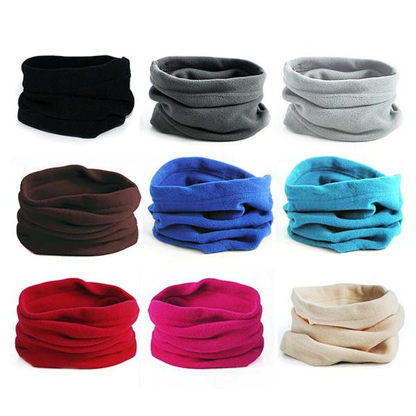 Atacado-Outdoor Equitação Fleece Neckerchief Pullover Neck Gaiter Multi-funcional Headwear Inverno Mantendo Máscara Chapéu Para Homens E Mulheres