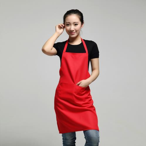 top popular 2017 New Black Cooking Baking Aprons Kitchen Apron Restaurant Aprons For Women Home Sleeveless Apron 40pcs 2020