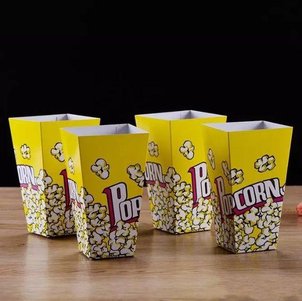 vendita all'ingrosso alimentari sicuro mini partito di carta scatole di popcorn caramella favore borse matrimonio compleanno film per feste forniture