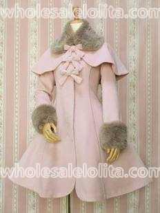 fcfee5b2b6bb 2019 Top Sale Pink Wool Warm Winter Sweet Lolita Coat Winter Long ...